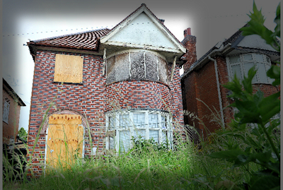 boarded-up property in Braunstone