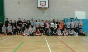 All junior competitors at the Corby Tournament