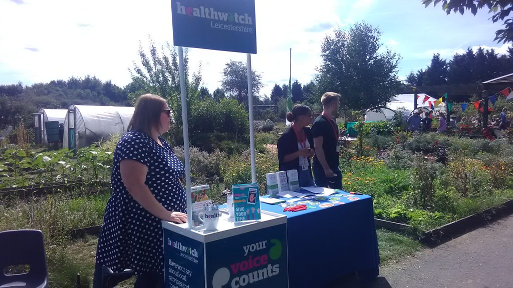 Healthwatch Leicestershire Stall