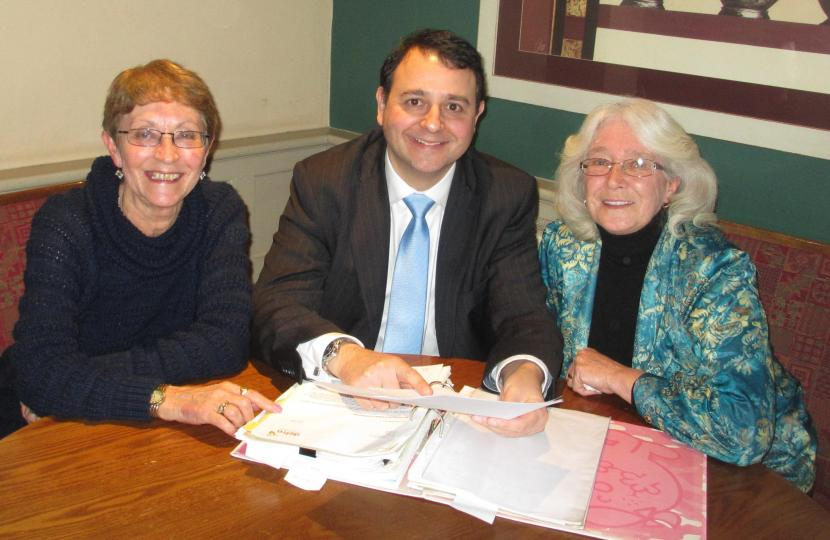 Mich Bingham with Cllr.Dickinson and MP Alberto Costa